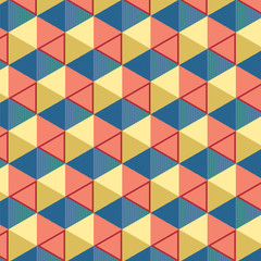 Geometrical cubes stacking each other in one geometric pattern - geometric pattern background concept