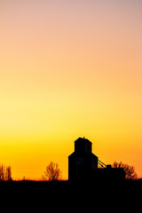 Grain Elevator Sunset