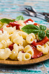 Traditional pasta with cottage cheese