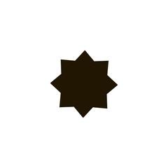 islamic star icon. flat design