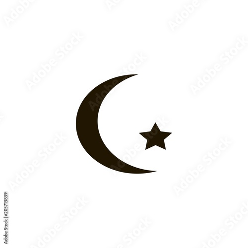 Islam Symbol Icon Flat Design Stock Image And Royalty Free Vector