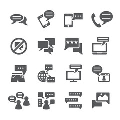 Message,SMS,Chat icon set