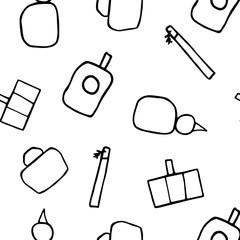 Bottles of perfume Seamless Pattern