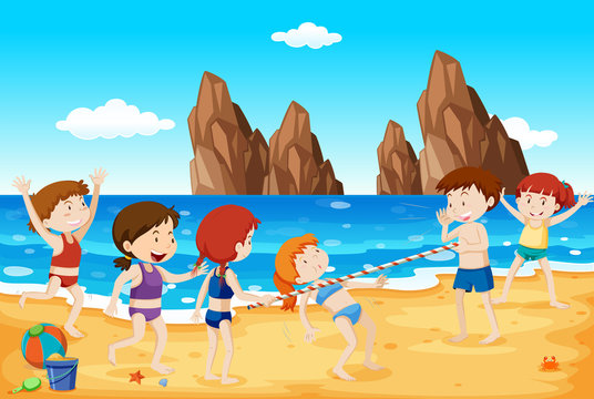 Limbo Dance on the Beach