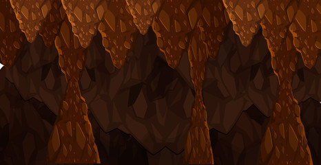 Seamless Underground Dark Cave Template