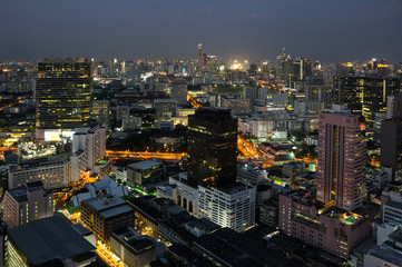 Top view of Bangkok in the night