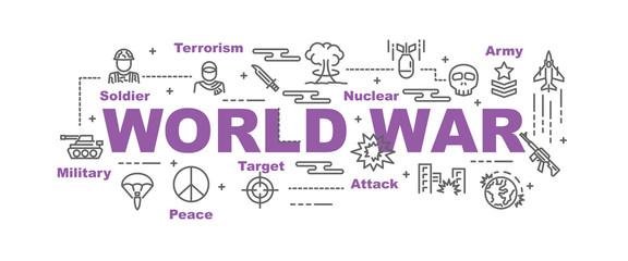 world war vector banner