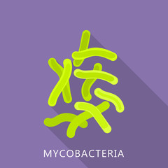 Mycobacteria icon. Flat illustration of mycobacteria vector icon for web design