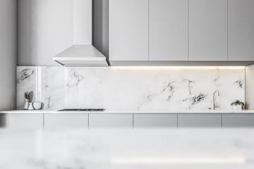 Marble kitchen gray countertops