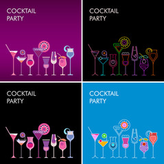 Foto op Canvas Abstractie Art Cocktail Party vector backgrounds