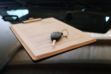 KFZ Kaufvertrag mit Schlüssel
