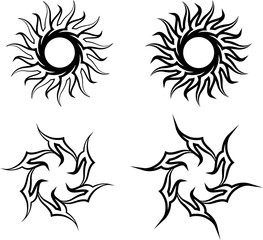 Tribal Tattoo Sun Design