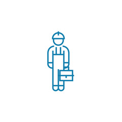 Blue collar line icon, vector illustration. Blue collar linear concept sign.