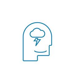 Brainstorming technique line icon, vector illustration. Brainstorming technique linear concept sign.