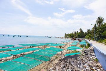 "Royalty high quality free stock image of boats at "" Nha "" beach on Son island, Kien Giang, Vietnam. Near Phu Quoc island"