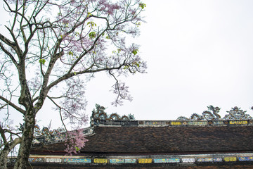 HUE, VIETNAM, April 28th, 2018: Imperial Royal Palace of Nguyen dynasty in Hue, Vietnam