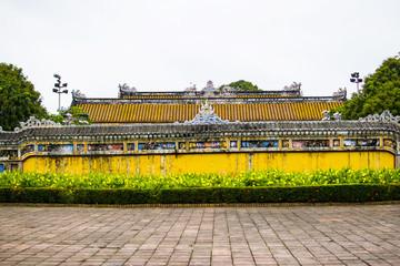 HUE, VIETNAM, April 28th, 2018: Imperial Royal Palace of Nguyen dynasty in Hue, Vietnam