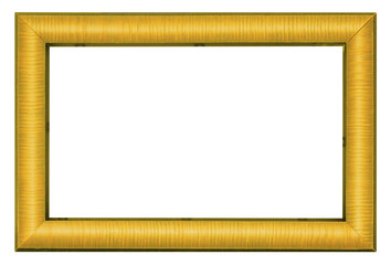Gilded picture frame isolated on white background