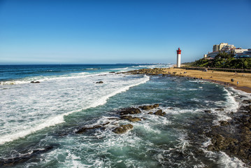 Durban Lighthouse Coastal View