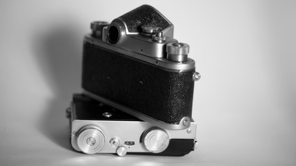 old film camera, isolated objects