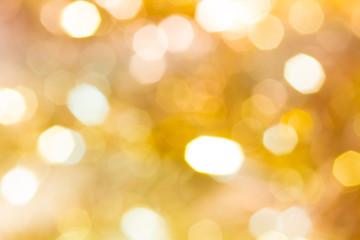 キラキラなボケ背景 黄色金白
