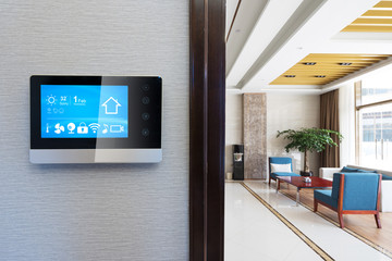 smart screen in modern meeting room