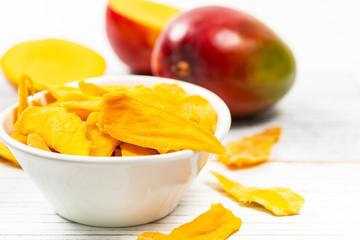 Dried Mango Fruit. Selective focus.