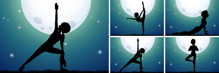 A Set of Midnight Yoga