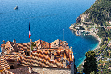 Eze Village and The Sea in France