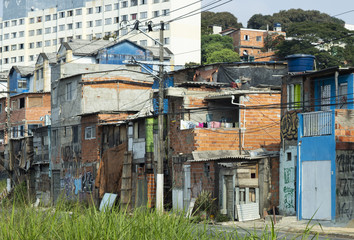 Slum in Sao Paulo, Brazil South America