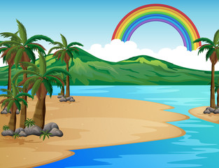 A Beautiful Tropical Island Scene
