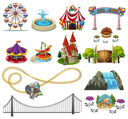 A Set of Theme Park Element