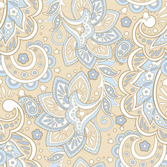 asian floral seamless pattern. Damask seamless vector background