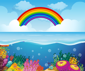 A Beautiful Deep Underwater Scene