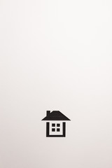 background of dark brown wooden complete house icon