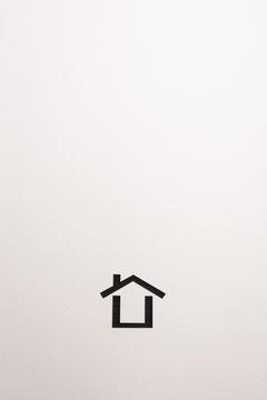 background of dark brown wooden minimal house icon