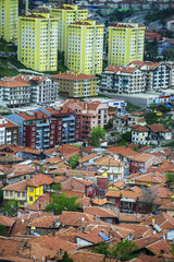 Urban change. Old Ankara Turkey. Ankara capital city of Turkey