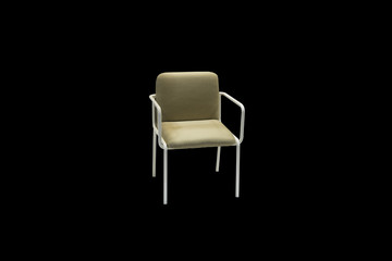 Modern chair isolated on black background,clipping path included.