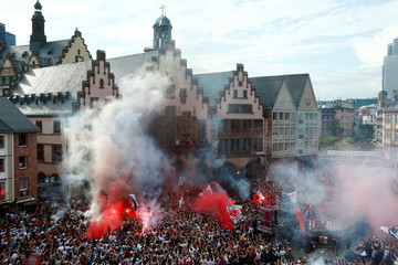 Eintracht Frankfurt DFB Cup Trophy Presentation