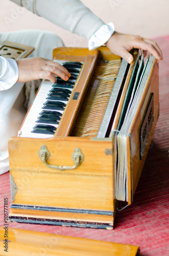 musical entertainments with harmonium during Guru Purnima