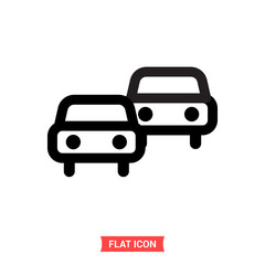 Commute vector icon, car symbol. Flat sign illustration for web or mobile app on white background