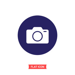 Camera vector icon, photo symbol. Simple illustration for web or mobile app