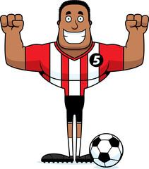 Cartoon Smiling Soccer Player