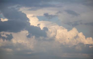 Nice white and dark cloud on blue sky