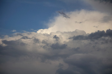 Nice white and grey cloud on blue sky