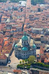 aerial view of the Duomo of Como, Italy