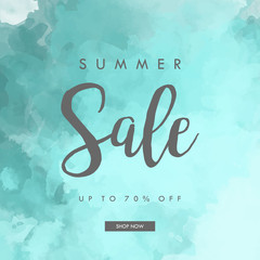 Summer Sale Banner, Summer Sale Background