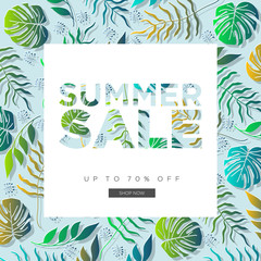 Summer Sale Banner, Summer Sale Background