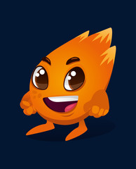 Twinkle. Funny cartoon character