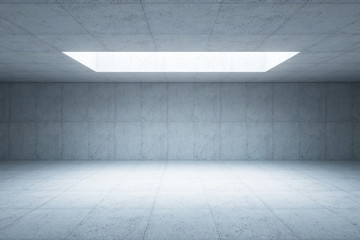 blank concrete space interior, 3d rendering